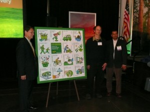"""Go Green"" stamps unveiled at Green California Summit & Conference"