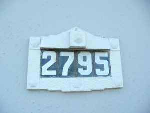 Feng Shui house numbers 2795