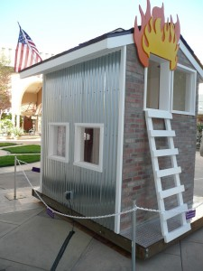 MPFA Playhouse (Back view) - Menlo Park Firefighters Association Dream house Fire station No. 1