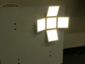 "Acuity's OLED Lighting design ""flower"" example"