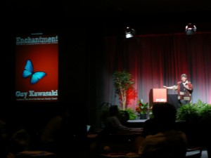 Guy Kawasaki during his Enchantment Keynote at PCBC