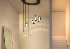 OLED blackbody-helix chandelier