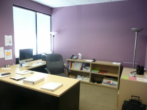 Feng Shui office colors include purple and silver. Both are part of the Feng Shui tips for wealth.
