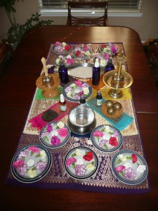 The Sacred Space table altar for a Home Blessing
