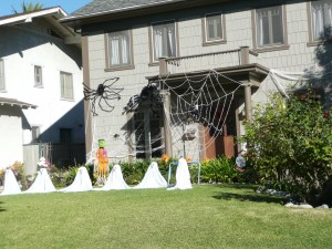 Spider webs can be nasty, especially big ones with spiders and lots of ghosts.