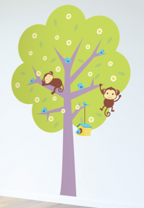 Feng Shui symbol of tree with monkeys.